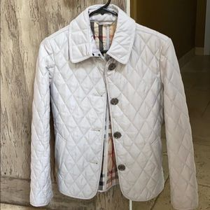 Burberry quilted jacket.